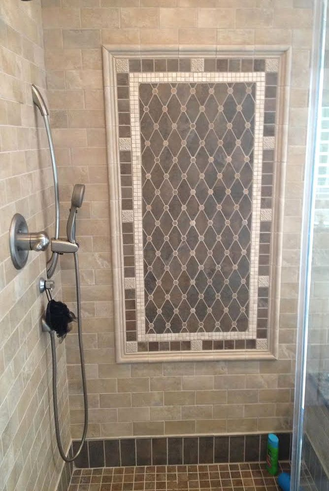 Shower Installation By Old World Tile John Damiano Beautiful Mosaic Pattern On Wall Surrounded Subway