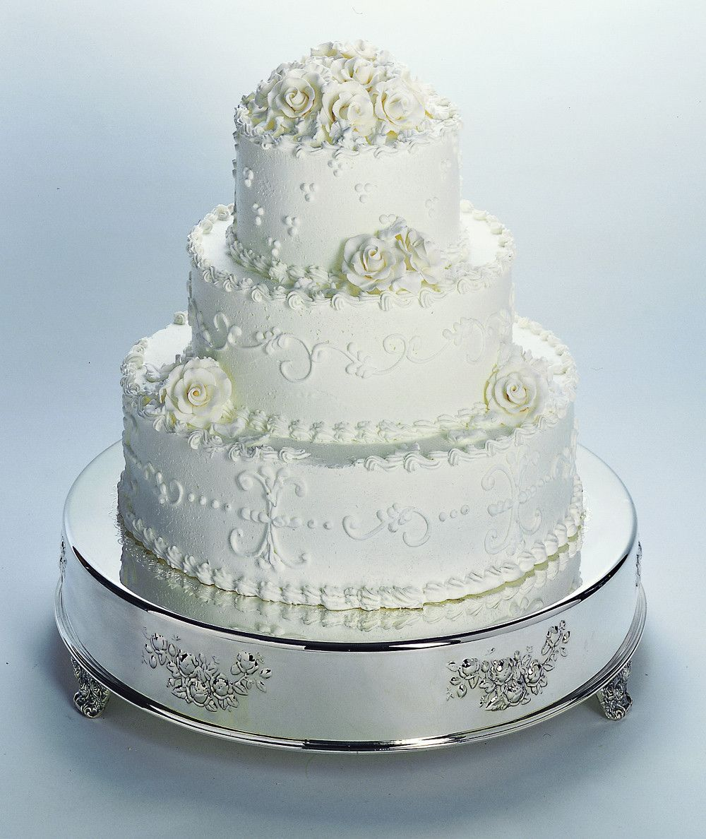 Silver Cake Table | cakes | Pinterest | Round wedding cakes, Wedding ...