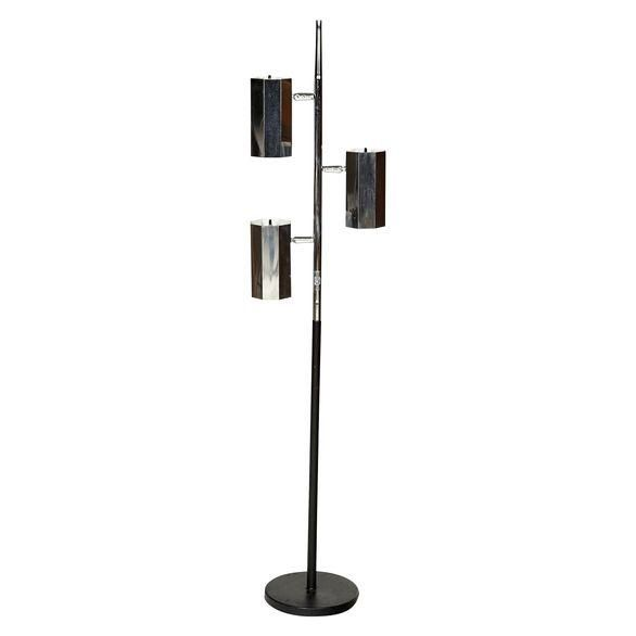 3 Light Floor Lamp Adorable 1960S Chrome & Black 3Light Floor Lamp  Floor Lamp And 1960S Review