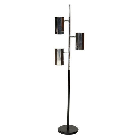 3 Light Floor Lamp Adorable 1960S Chrome & Black 3Light Floor Lamp  Floor Lamp And 1960S Review