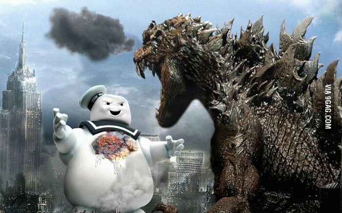 Still waiting for this crossover Stay-Puft Marshmallow Man vs. Godzilla