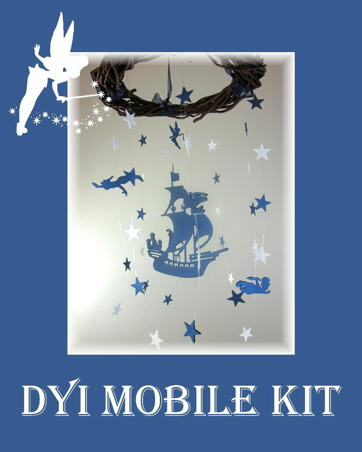 Dyi Mobile Kit Peter Pan Nursery Star Bedding Neutral