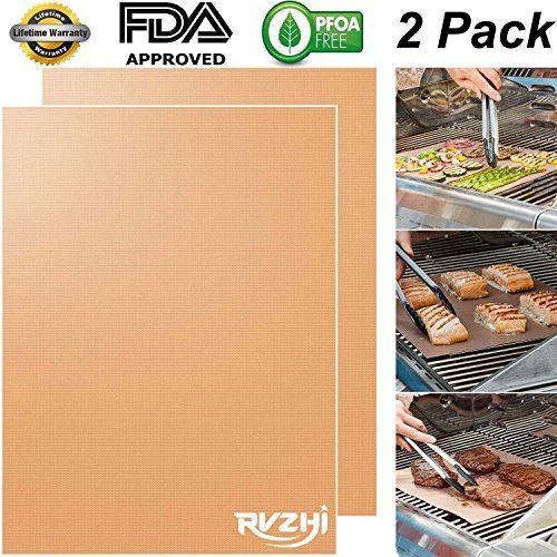 Rvzhi Copper Grill Mat Set Of 2 Non Stick Bbq Grill B Https Www Amazon Com Dp B06zxslq94 Ref Cm Sw R Pi Dp X B7dmzbqmw Grill Mats Grilling Baking Mats