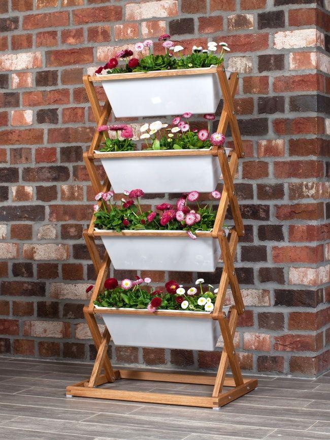 Clevere Gartenideen Für Den Stadtbalkon | Pflanzenkübel, Sommer ... Vertikale Bepflanzung Ideen Tipps Garten