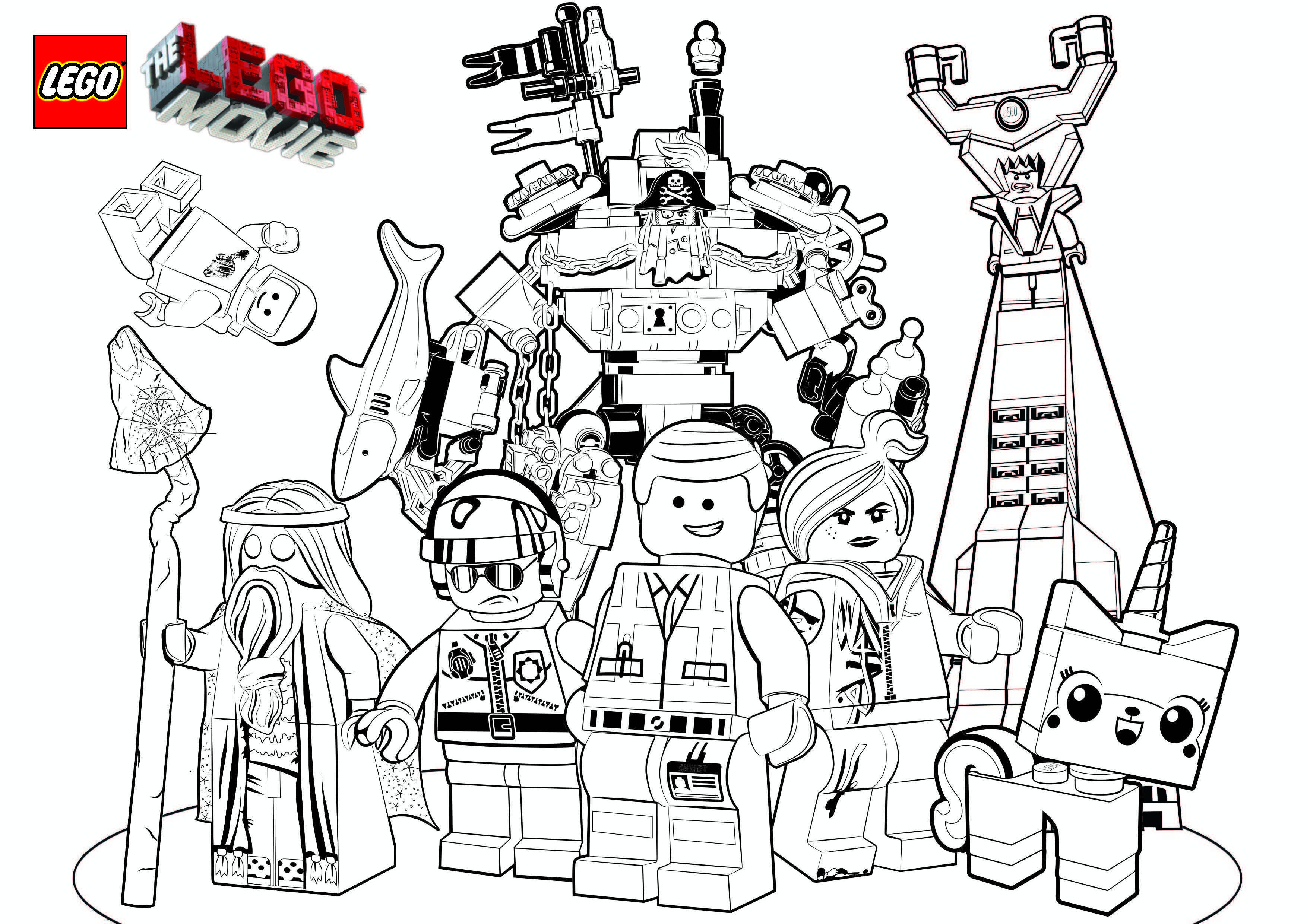 Free Colouring Pages Lego Movie Coloring Pages Lego Coloring Pages Superhero Coloring Pages