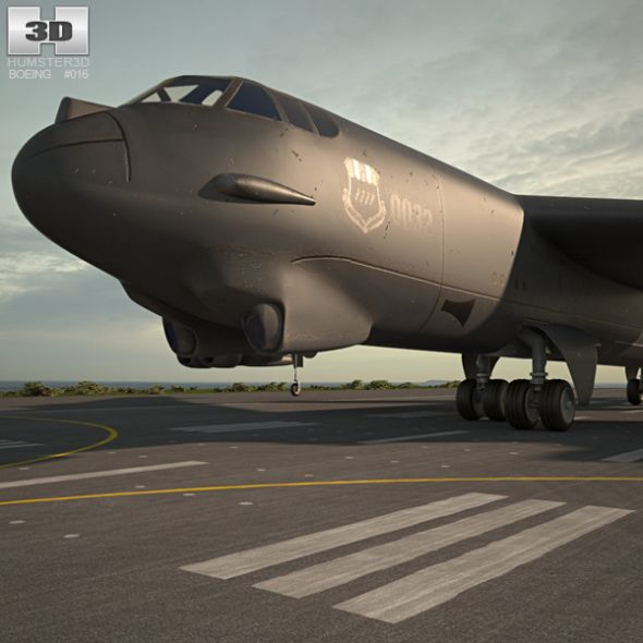 Boeing B 52 Stratofortress Of The U S Air Force History: Boeing B-52 Stratofortress By Humster3d The 3D Model Was
