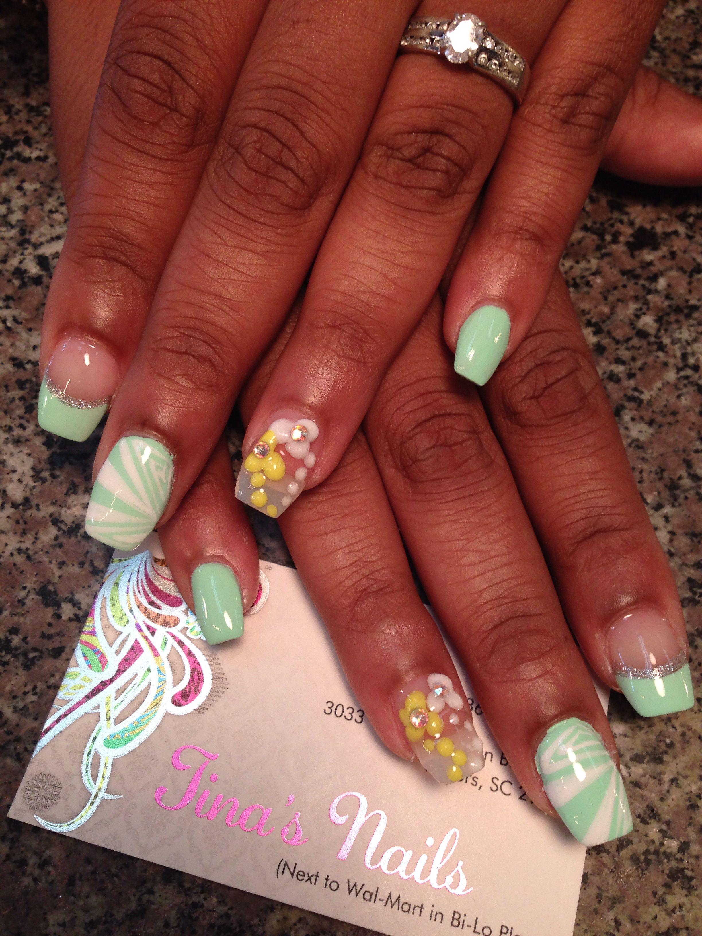 Nail designs nail art 3d art freestyle marble umbre free ...