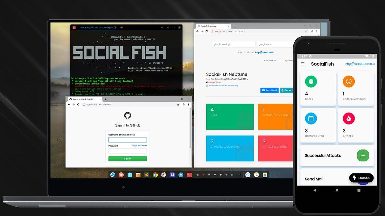 SocialFish V3 Phishing Tool 2019 Education, Tools, Linux