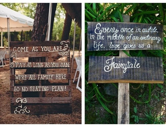 16 Awesome Rustic Wedding Signs