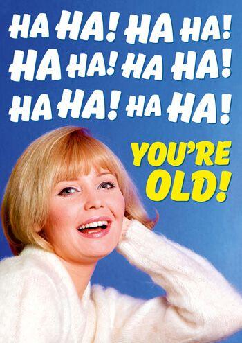 Ha Ha! Ha Ha! Ha Ha! You're Old! Funny Birthday Card ...