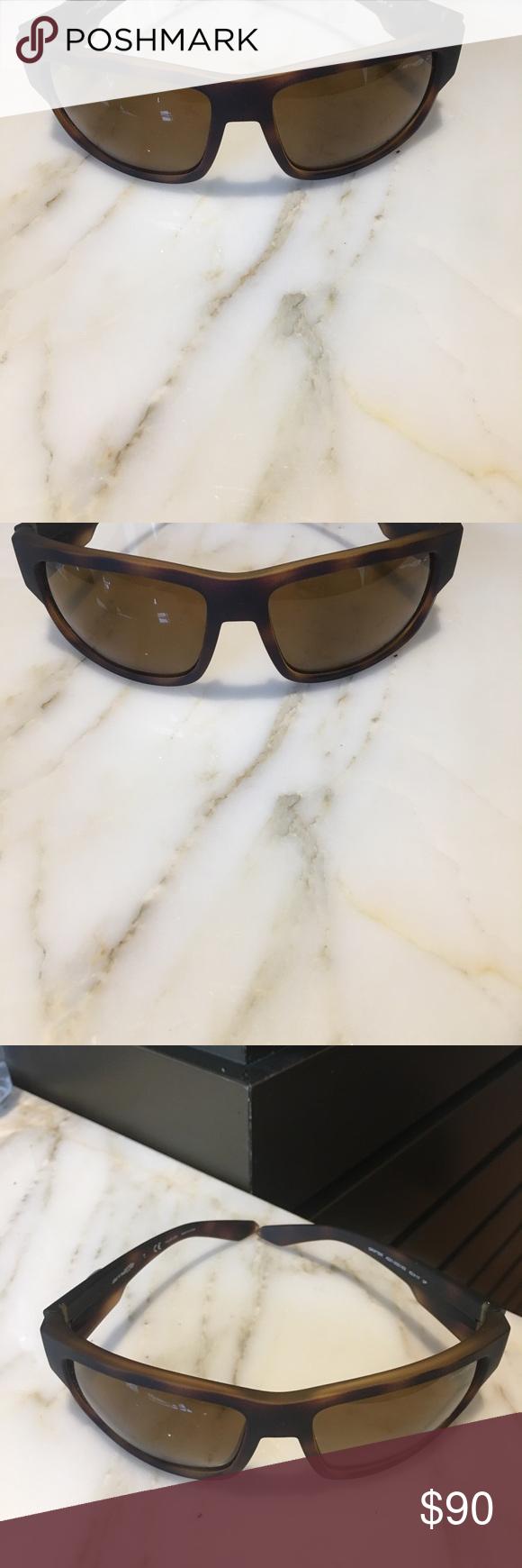 4db225c346e Arnette Men s Grifter Polarized Brown Sunglasses Authentic Annette Men s  Grifter Polarized Rectangular Sunglasses