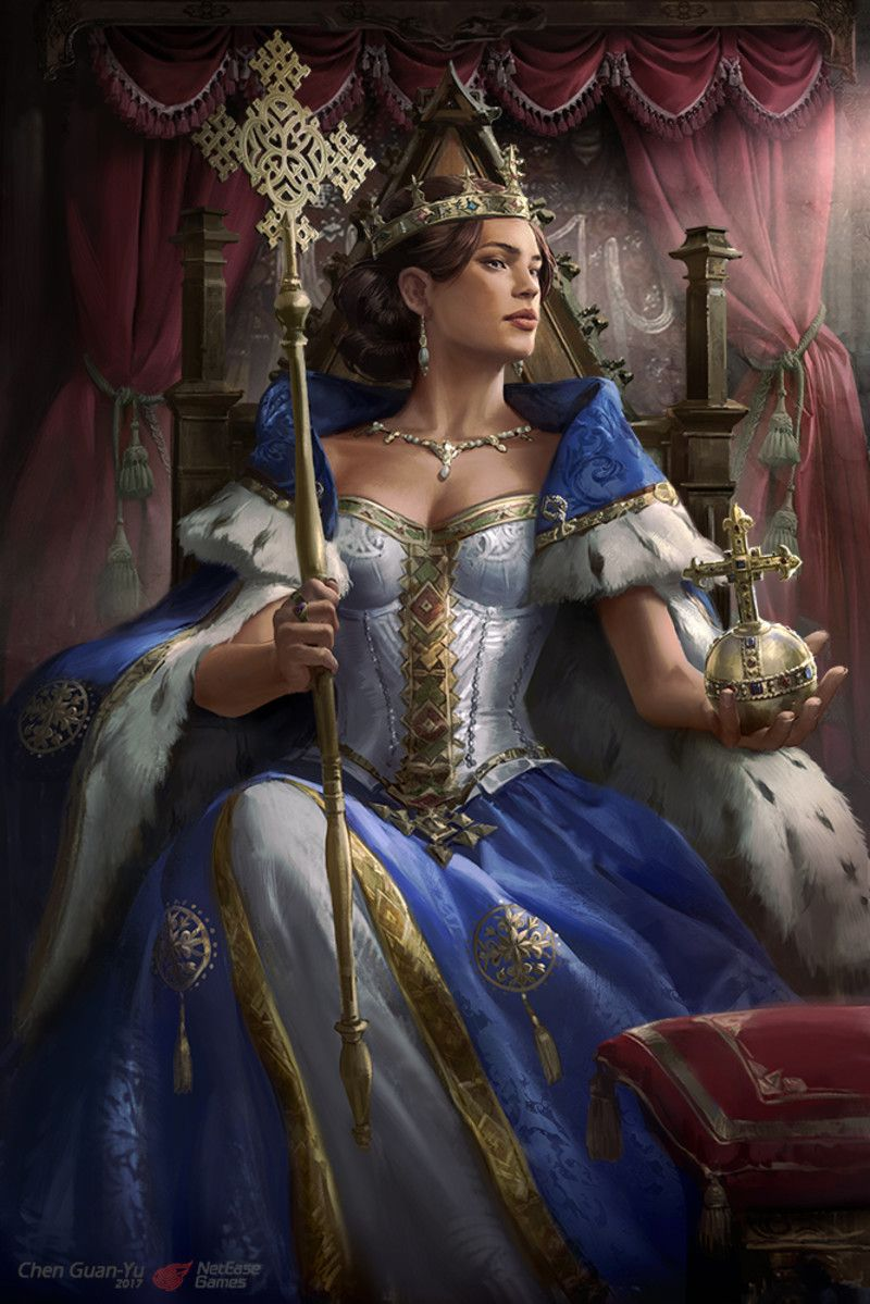 Artstation Queen Eleni Guan Yu Chen Fantasy Queen Fantasy Art Queen Art