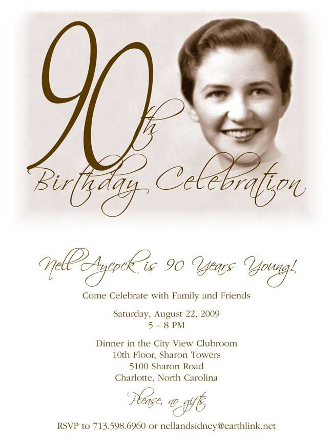 90th Birthday Party Invitation Granny turns 90! Pinterest - birthday invitation design templates