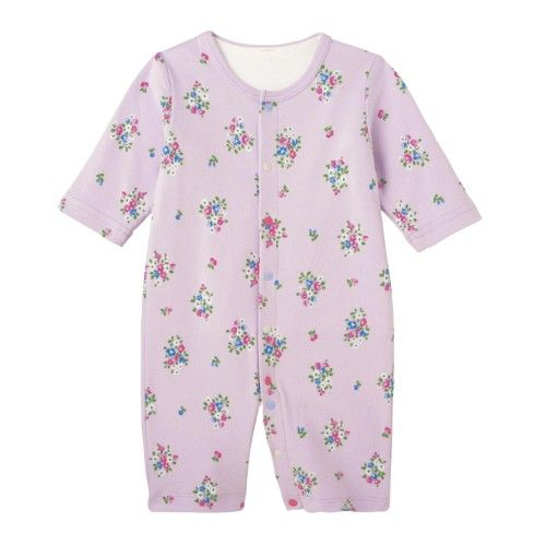 bff224b7482b6 フライス短肌着付き長袖ツーウェイオール 新生児ベビー服 |通販のベルメゾンネット