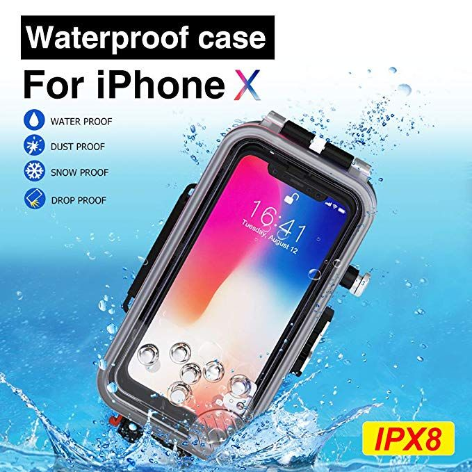 size 40 6164a cc205 MEIKON Waterproof Case for iPhone X/XS Underwater Housing ...