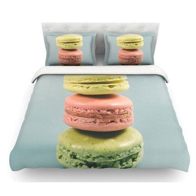 East Urban Home Macarons by Nastasia Cook Dessert Featherweight Duvet Cover Size: Queen