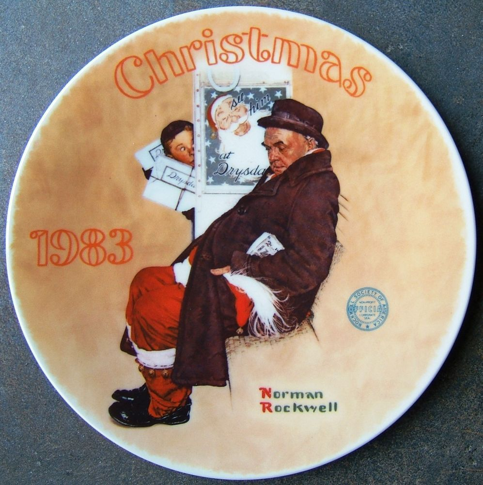 Norman Rockwell Santa in the Subway Knowles Christmas Plate First ...