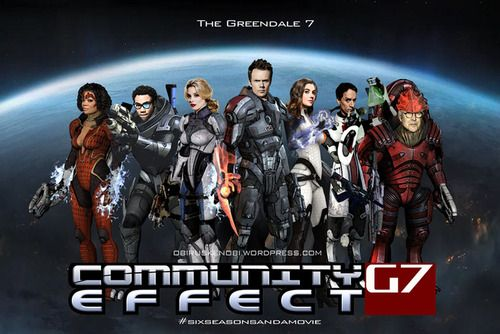 6 season and a movie meets 3 games and a new ending in a Community/Mass Effect mash up.