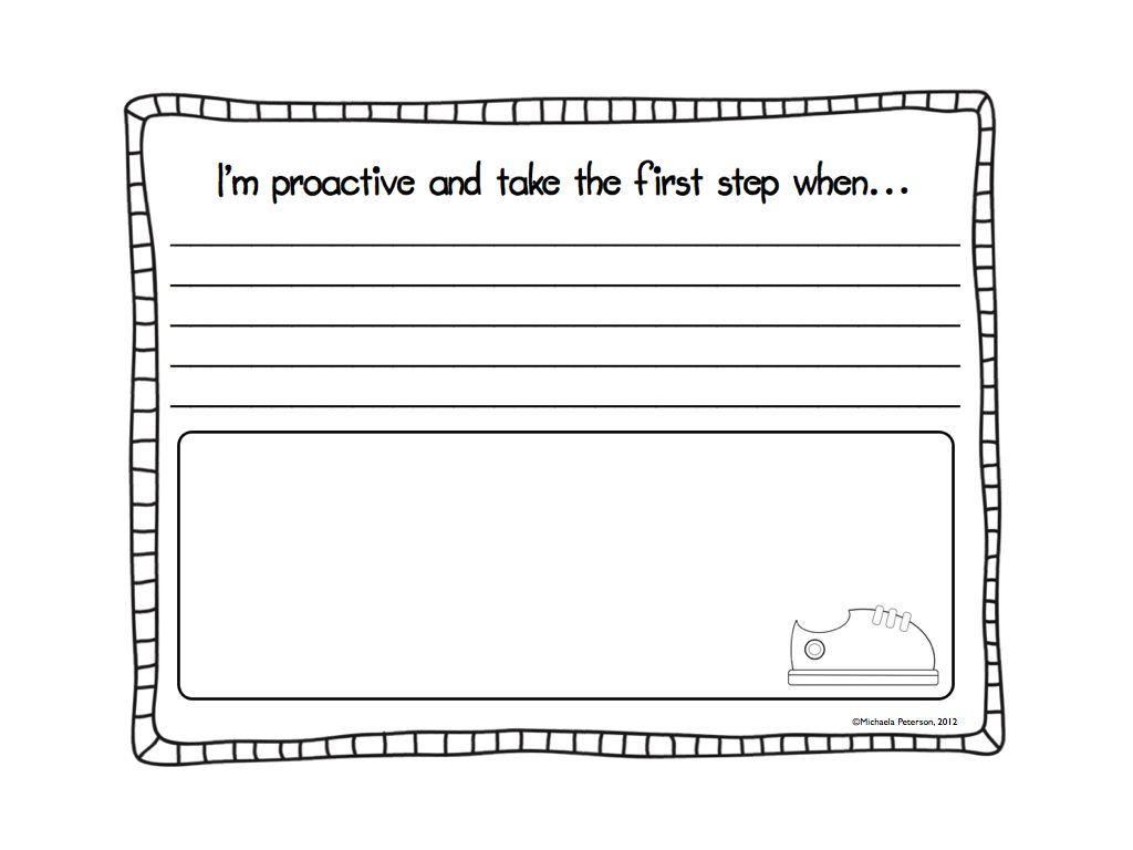 My Favorite Freebie I M Proactive A 7 Habits Craftivity