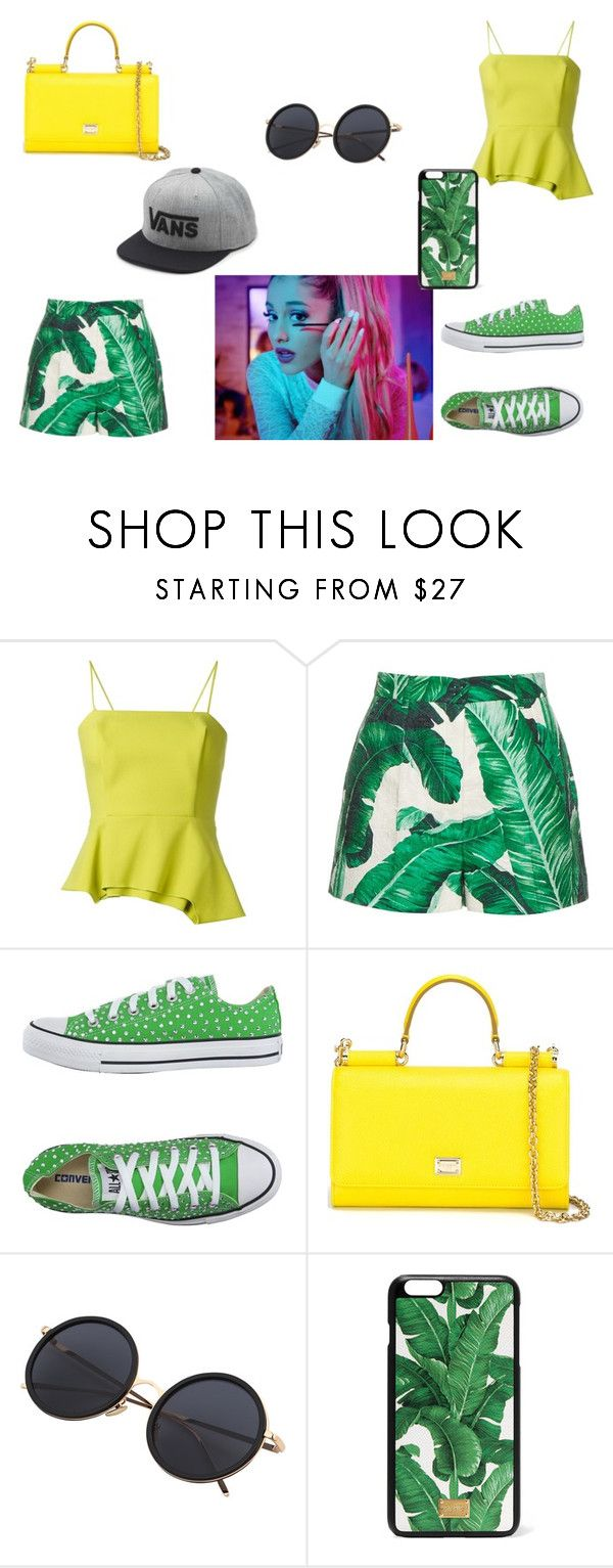 """""""Whatever I want"""" by kaylia-ashley ❤ liked on Polyvore featuring Chalayan, Dolce&Gabbana, Converse, Vans and me"""