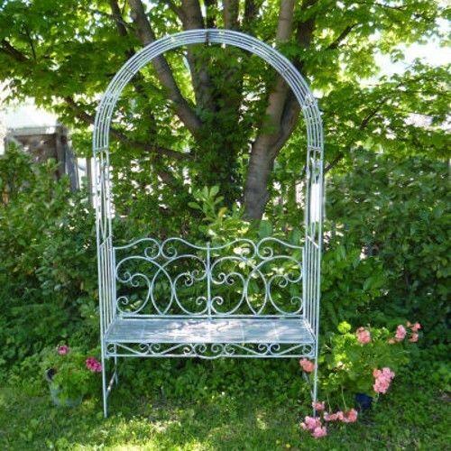 Metal Garden Bench Seat With Arch Garden Arbour Garden Arch With Bench  Pergolas