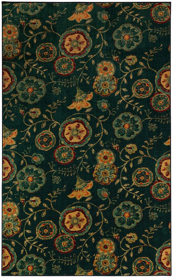 Mohawk 174 Home Aurora Suzani Vines Wear Dated Floral Rug