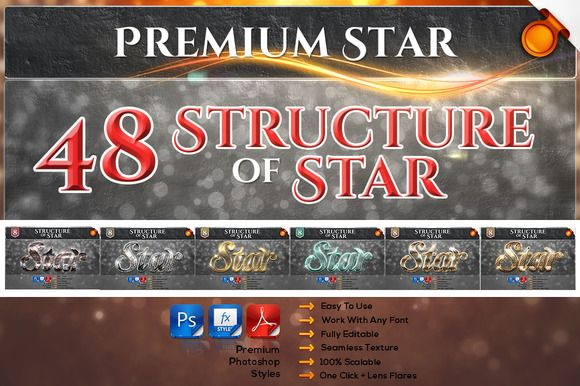 48 Premium Star Bundle by TrulyART on @creativework247