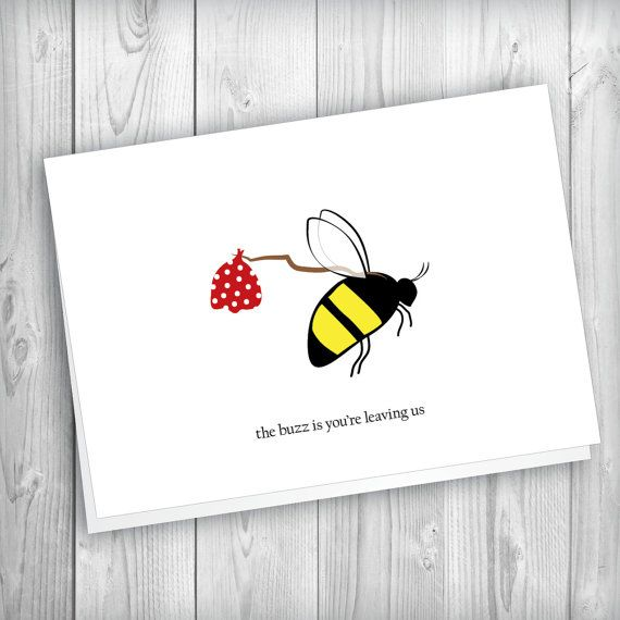 Say farewell to your colleague and happy wishes from the office with - printable goodbye cards