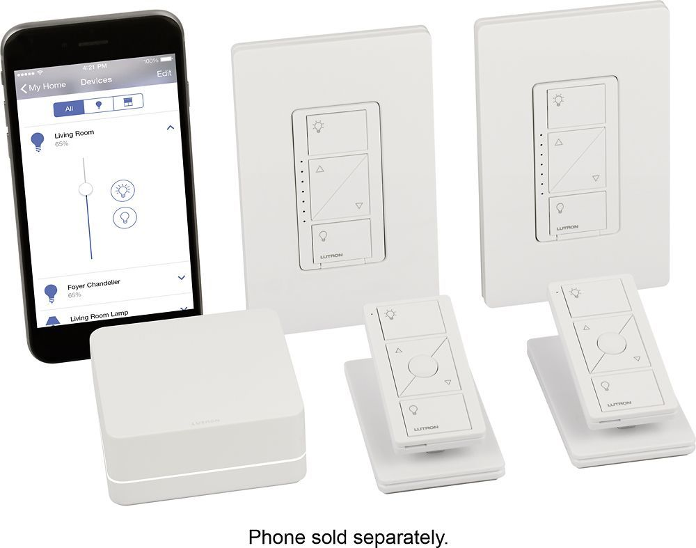 Lutron - Caséta Wireless Smart Lighting Dimmer Switch (2-Pack