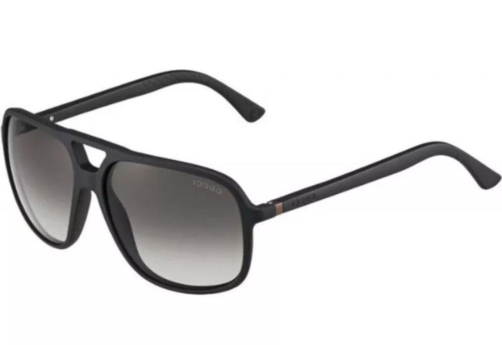 880d9422fea Gucci Men s GG 1091 S D28N6 Oversized Aviator Sunglasses - Authentic ...