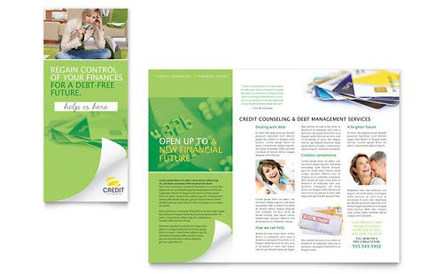 Credit Counselor Tri Fold Brochure design brochures - microsoft word tri fold brochure template