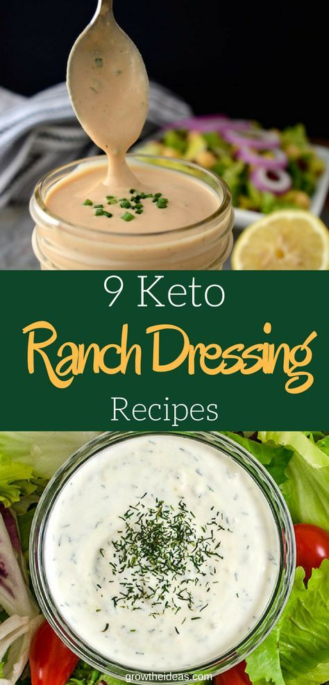 9 Low Carb Keto Ranch Dressing Recipes: Your Favorite Salad Dressing Made Keto-Friendly