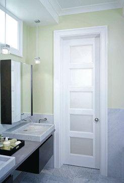 5 panel privacy glass door contemporary interior doors los angeles interior door for Modern interior doors los angeles