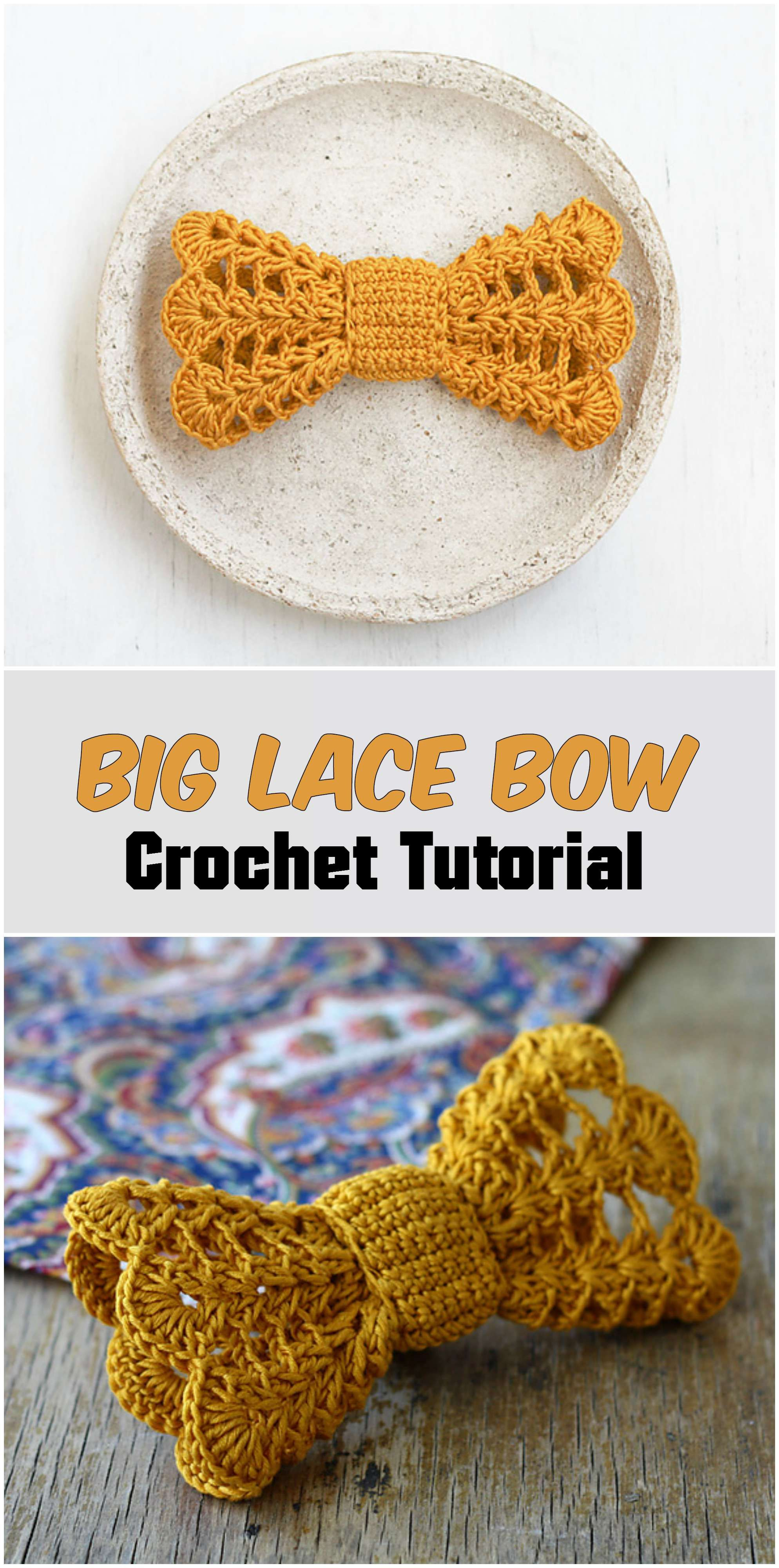 Crochet Bow Crochet by Allie