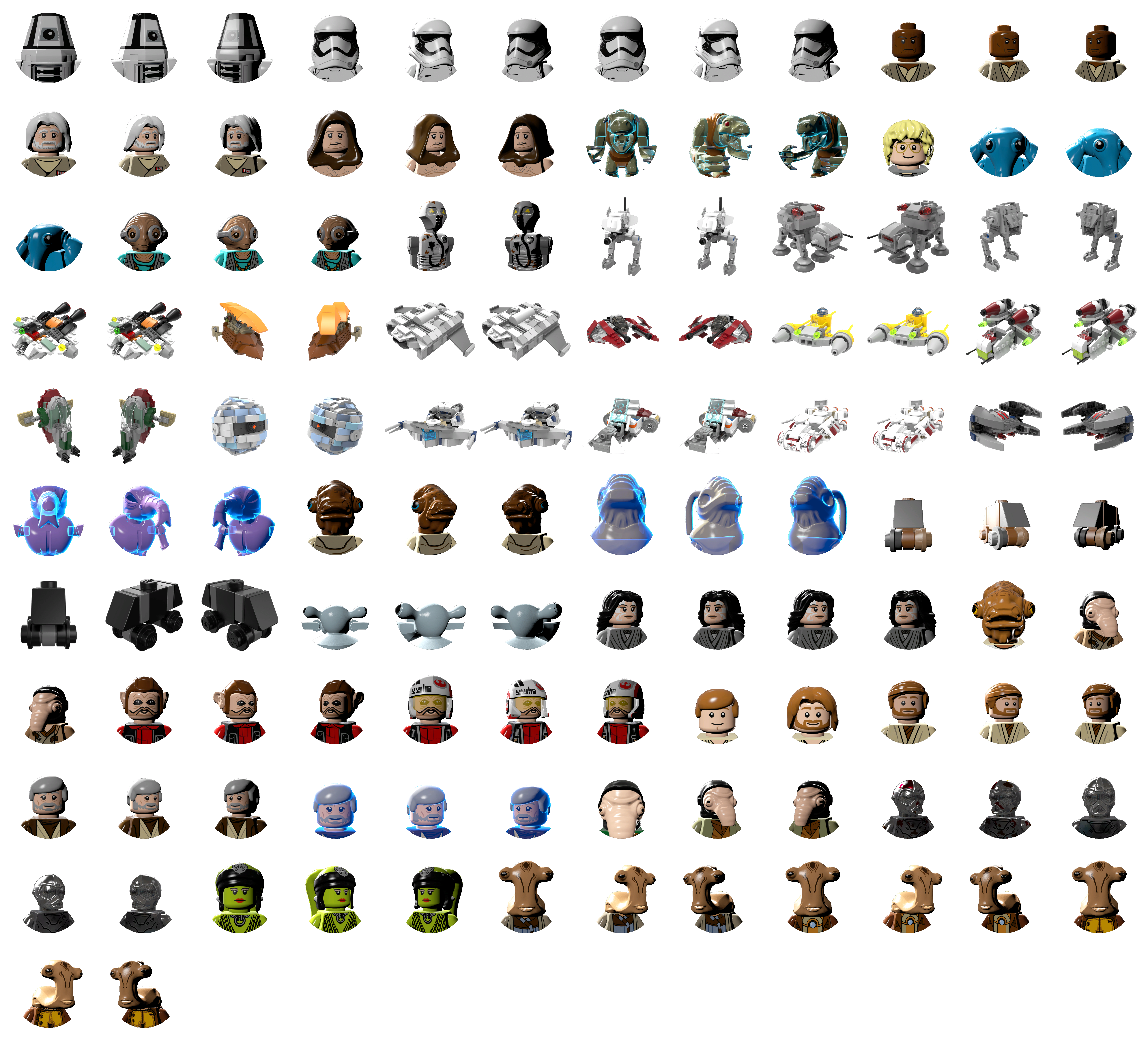 Star Wars Character Icons Phone wallpapers Star wars