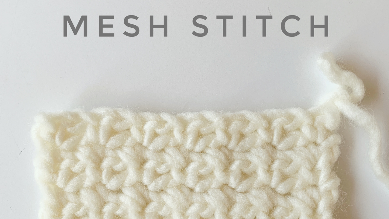 Photo of How to Crochet the Mesh Stitch