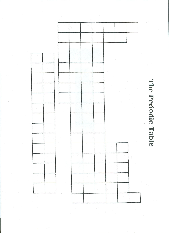 Blank Periodic Table Printable