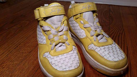 d96b6712fda2 vintage basketball shoe yellow sneakers vintage high top