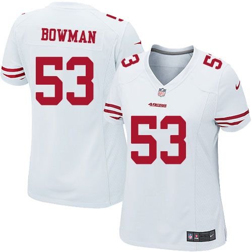 349749d97 ... Nike Limited NaVorro Bowman White Womens Jersey - San Francisco 49ers 53  NFL Road ...