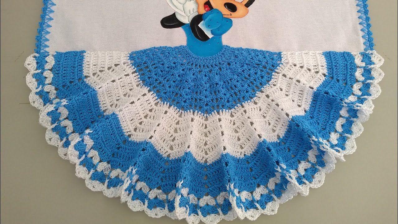 Saia De Croche Para Pano De Prato Para Minie Parte 1 Saia Croche Panodep Croche Pano De Prato Saia De Croche Porta Guardanapo De Croche