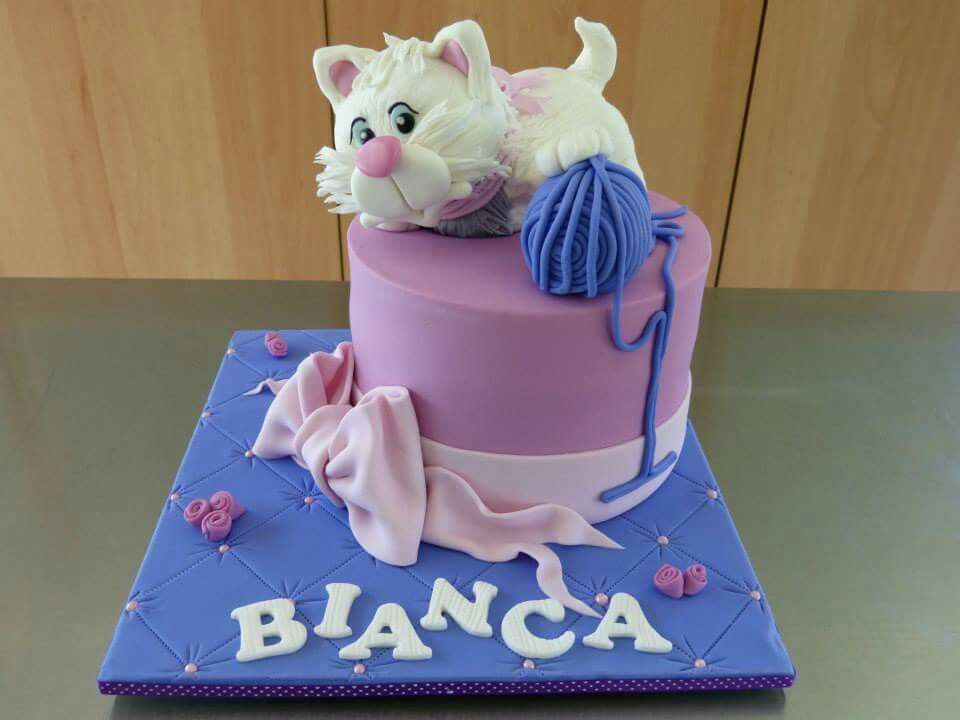 Pin By Aileen On Rbab Cakes Birthday Cake For Cat Kitten Cake Cat Cake