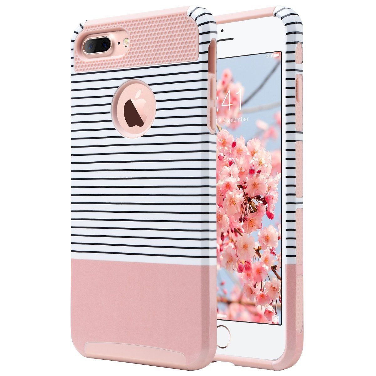 For Iphone 7 Plus Dual Layer Shockproof Hybrid Rubber Hard Bumper ...