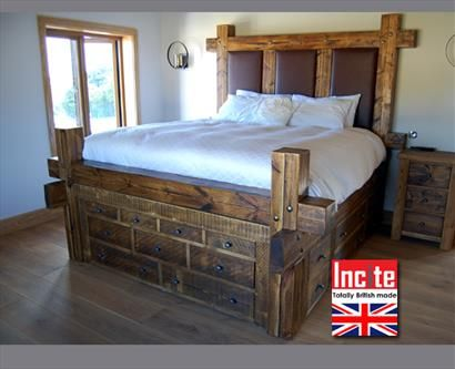 Plank Wooden Sleeper Drawer Bed - Wooden Furniture all handmade by Incite  Interiors, Solid Wooden