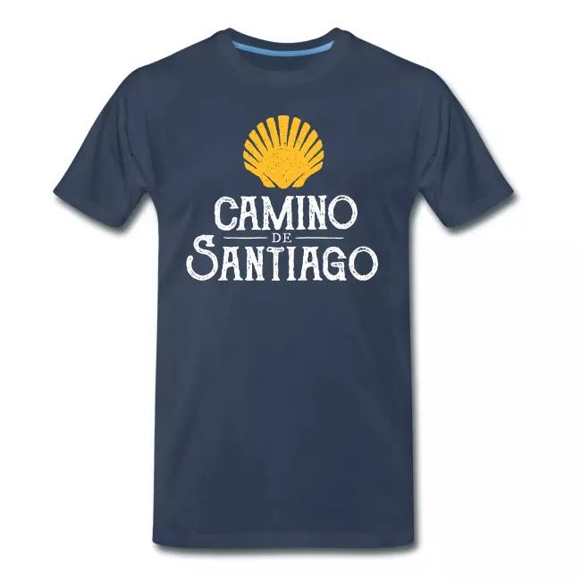 Geschenkidee Humor Buen Camino Jakobsweg T-Shirt Wandern Muschel