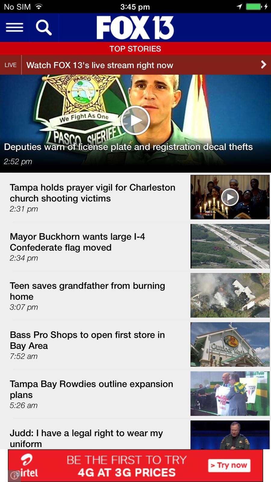 FOX 13 News Tampa Bay TelevisionFoxStationsios (With