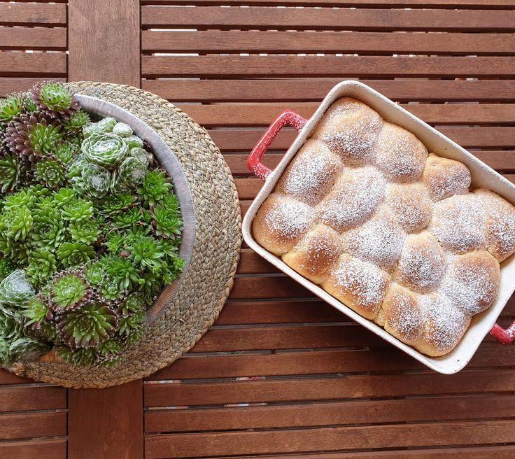 Hefeteig ? Heute Nachmittag gibt es bei uns leckeren Hefekuchen mit selbstgemachter Aprikosenmarmelade und für die Kinder einfach mit Puderzucker ? schnell gemacht und himmlisch fluffig ? ich wünsche Euch einen schönen Sonntag ? . . .