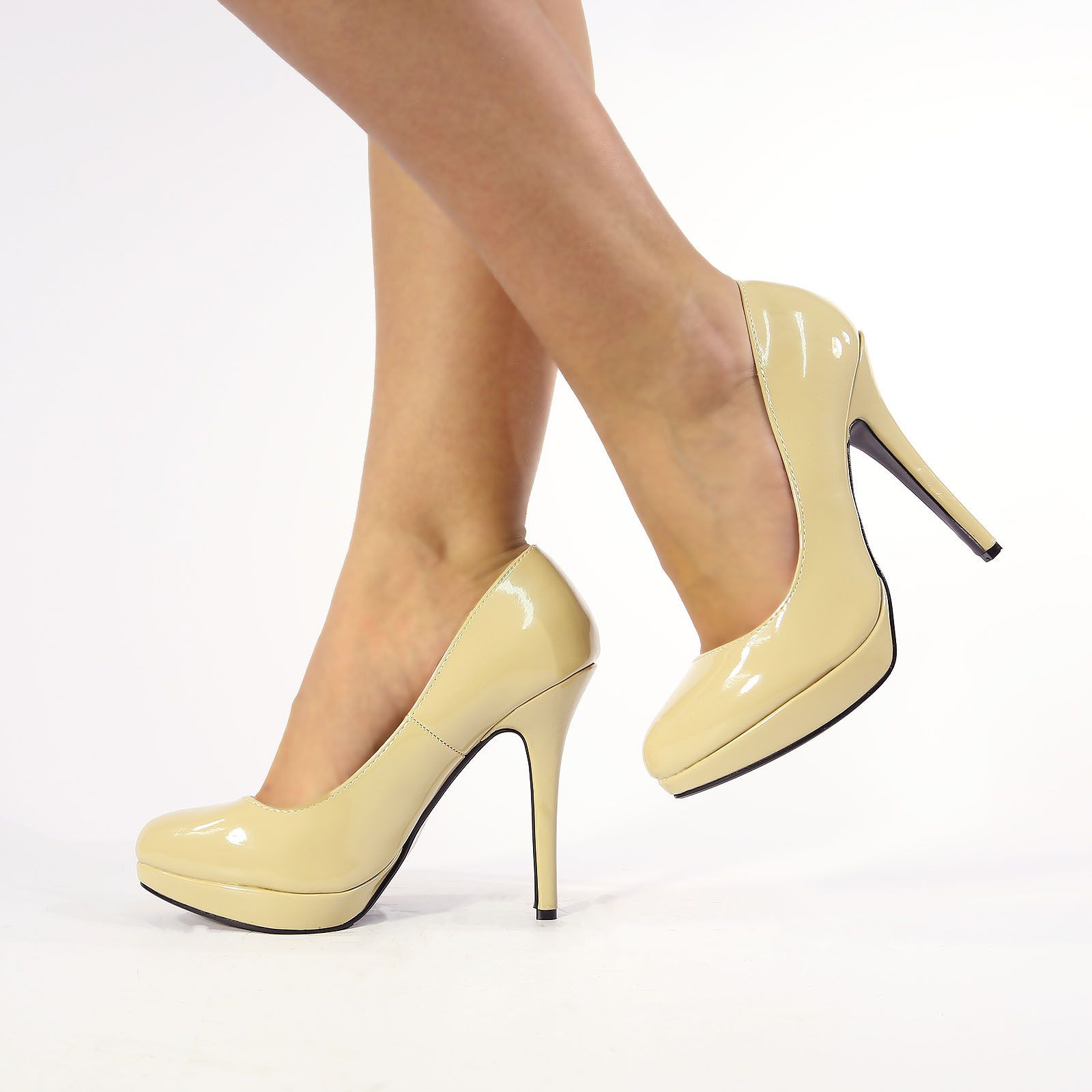 8b742538f013b Details about NEW WOMENS LADIES STILETTO HIGH HEEL COURT SHOES SIZE ...