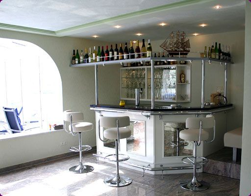 Dise os modernos para el bar de la casa comidas ricas for Bar madera moderno