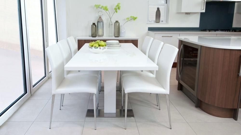 Attractive White Modern Dining Room Sets Photos Luxury White