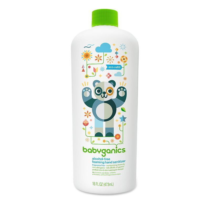 Babyganics 16 Oz Alcohol Free Foaming Hand Sanitizer Refill